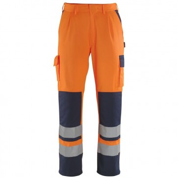 Mascot Warnschutz-Bundhose Olinda orange/marine Gr.64
