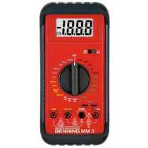 BENNING Digital-Multimeter im Lederetui MM 3