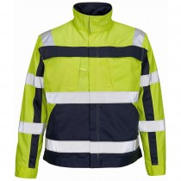 Mascot Warnschutz-Jacke Cameta gelb/marine, Gr.3XL
