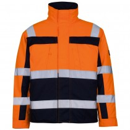 Mascot Warn-Pilotjacke Timon orange/marine Gr.XXL