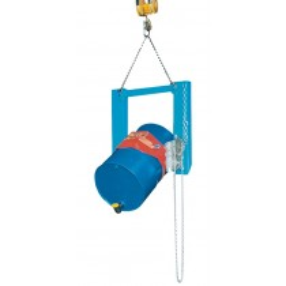 Fasskipper, für Fässer Volumen 60-220 l und Mülltonnen, mit Prismenaufnahme und Endloskettel, RAL 5012
