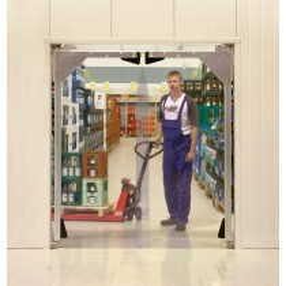 Pendeltor für den Innenbereich, verzinkter Rahmen, Torblatt Kunststoff/transparent 10 mm stark, Türöffnung BxH 3000x3000 mm