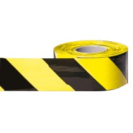 Absperrband, schwarz/gelb schraffiert, Gesamtlänge 500 m, Breite 80 mm