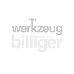 Ketten-Sperrpfosten, mit Stahlfuß 300/300/100 mm, 2 mm Stahlblech, schwarz, Stahlpfosten 60/1000 mm, Kunstst.beschichtet rot-weiß, zwei Ösen für Kette