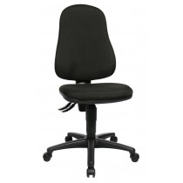 Bürodrehstuhl - Sitz-BxTxH 450x440x420-550 mm - Lehnenh. 580 mm - Permanentk. - Muldensitz - schwarz / royalblau / orange