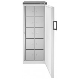 Gemeinschaftskühlschrank, 10 Schließfächer, BxTxH 600x610x1640 mm, Volumen 250 l