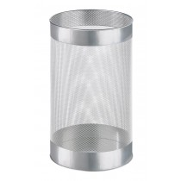 Schirmständer, Durchm.H 240x400 mm, Stahlblech gelocht, silber