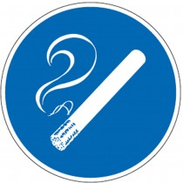Gebotssschild, Rauchen gestattet, Folie, Durchm. 200 mm