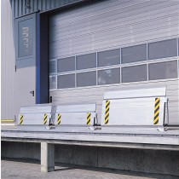 Ortsfeste Überfahrbrücke, LxBxH 535x1250x100 mm, Traglast 4000 kg, verschiebbar, klappbar, Fallsicherung