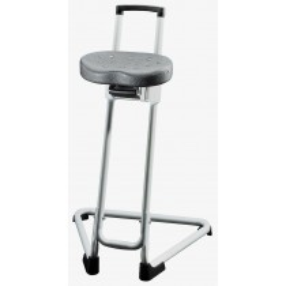 Stehhilfe - Sitz schwarz - Gestell schwarz - Sitzhöhenverstellung 600-850 mm