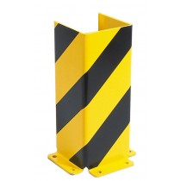 Anfahrschutz, Stahl-U-Profil, kunststoffbeschichtet gelb/schwarz, Höhe 400 mm, Stärke 6 mm, Querschnitt 160 mm