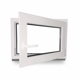 Kellerfenster - BxH 100x100 cm - weiß - DIN Links
