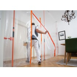 Staubschutz Komplettsystem Staubabsaugungssystem Heywall Sanierer - Werkzeugloser Gebrauch - bis zu 3,60 m Höhe