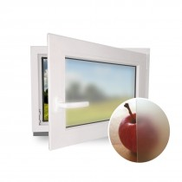 Badezimmerfenster - Breite 50 bis 120 cm Höhe 40 bis 120 cm - weiß - Dreh- & Kippfunktion - Satinato - 2-fach-Verglasung - Anschlag links oder rechts