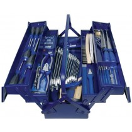 JeCo Werkzeugkasten - Werkzeugset in Stahlblechkasten 60-teilig - Hochwertige Werkzeuge in Handwerker- und Industriequalität