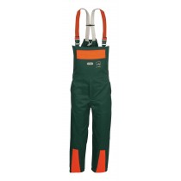 WATEX Waldarbeiter-Latzhose grün/orange Gr.50