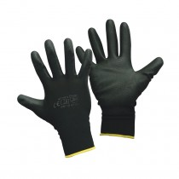 Montagehandschuhe - 12 Paar - Arbeitshandschuhe - Handschuhe - Angenehmer Tragekomfort - Optimal für Feinarbeiten - Reparaturarbeiten - Gefahren-Kategorie II - EN 388, 4131 - Farbe: schwarz - 10 (XL)