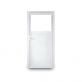 Nebeneingangstür Economy Line 60 mm - 2-fach-Verglasung - 1/3 Glas - 2/3 Füllung - Abmessung + Öffnungsrichtung nach Wahl