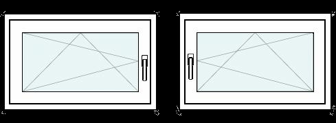 2 fach Verglasung DIN Rechts 60 mm Profil Dreh- /& Kippfunktion innen wei/ß//au/ßen wei/ß 500 x 1000 mm Kellerfenster Fenster BxH: 50 x 100 cm